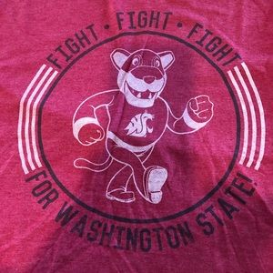 WSU COUGARS COUGS Tee Fight Song Medium NWT